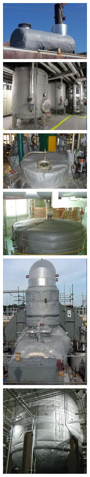 热盾柔性可拆卸保温套也称:保温被,隔热套,柔性保温衣,异型保温等。是根据管道或设备的具体形状及其使用环境,经过精心设计,测绘后,通过特殊工艺制作而成。可以在不同温度,不同形状的管道和各种冷热设备上使用。对于要经常拆卸,维修保养,清洗的管道设备尤为适用。其综合经济效益好,是目前工业节能环保理想的选择!柔性保温套由耐超高温内衬,中间隔热隔热层 ,表面隔热防护层(防水、防腐蚀)三部分组成。是目前工业节能环保的理想产品,广泛应用于石油化工,化学工程,纺丝,冶金,电力,建筑,窑炉,造纸,制药 等诸多领域。
