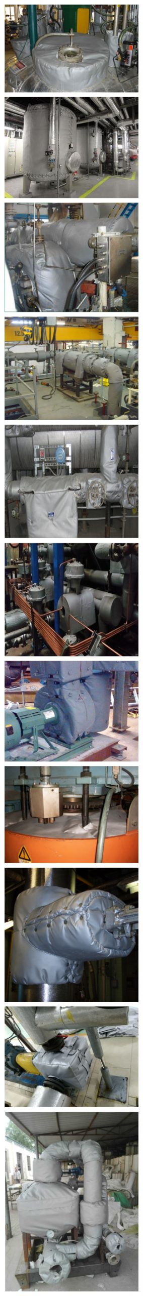 Mechanical equipment overall insulation system