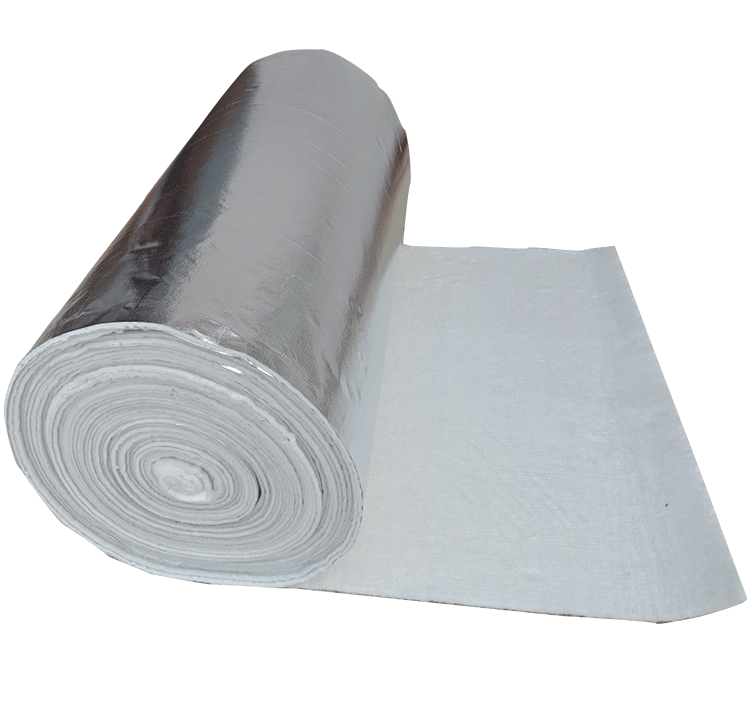 Single side aluminum foil cloth + composite glass fiber felt