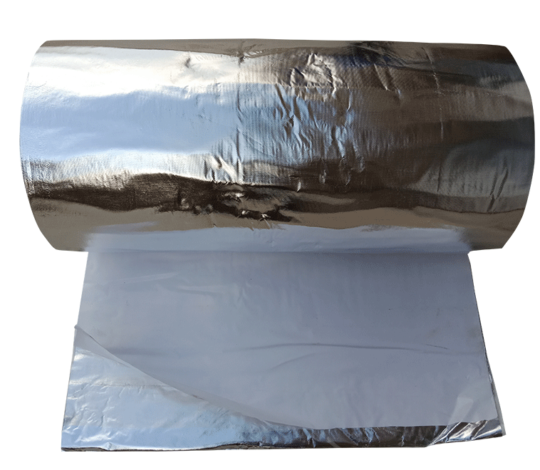Double sided aluminum foil with adhesive back