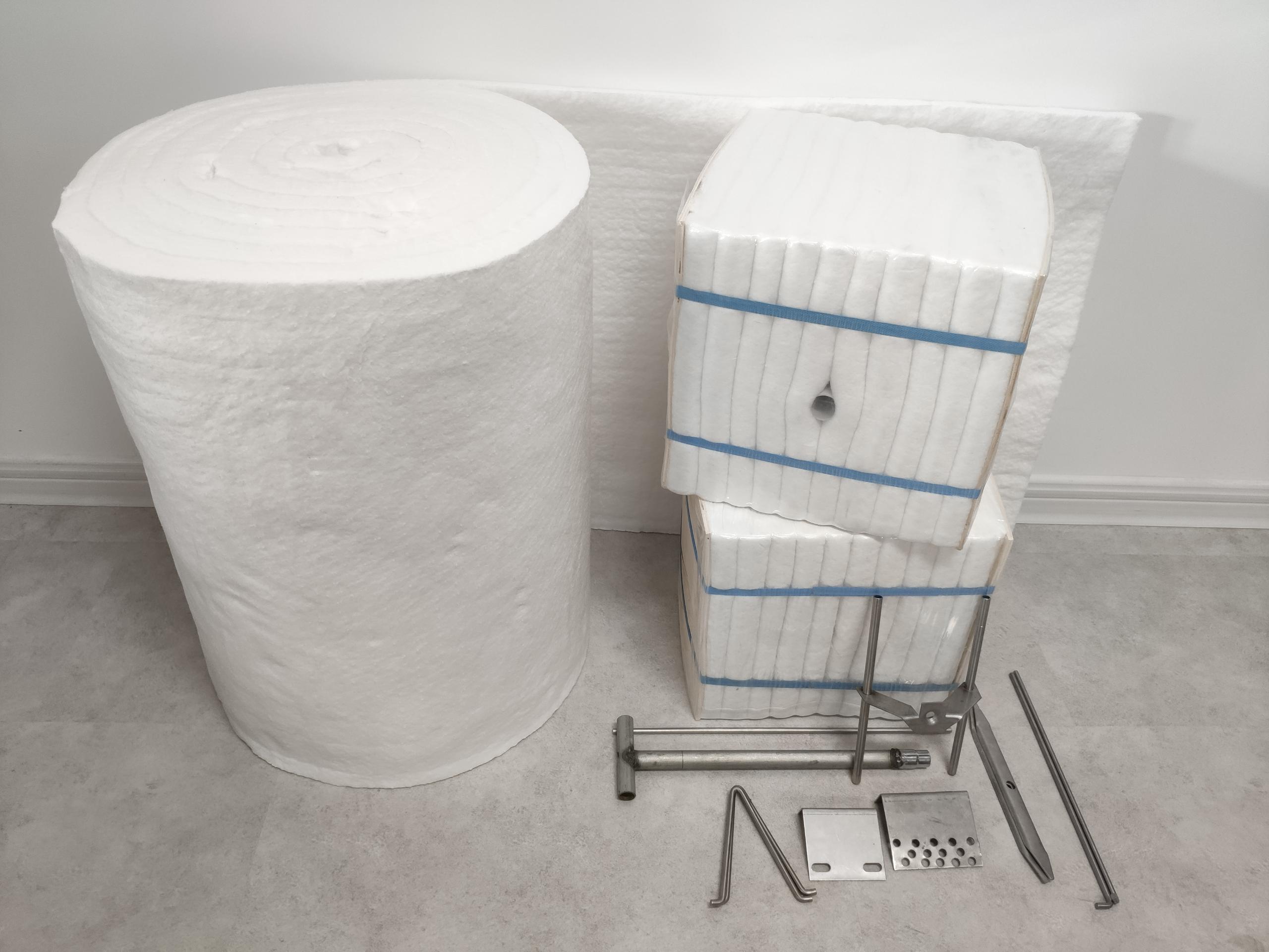硅酸铝陶瓷纤维毯和模块、锚固件